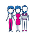 people family member together character image vector image vector image