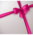 pink bow and ribbon vector image vector image