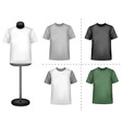 polo shirts with mannequins vector image