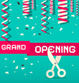 Retro Grand Opening with Confetti and Scisso vector image vector image