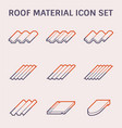 roofing material icon vector image vector image
