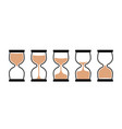sand clock time icon hour glass watch timer vector image vector image