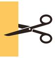 Scissors symbol vector image vector image