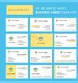 set of 12 cloud dollar creative busienss card vector image vector image