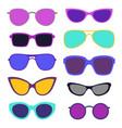 set stylish sunglasses vector image vector image