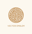 simple and elegant logo design template in trendy vector image vector image