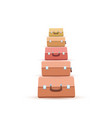 stack suitcase or luggages or handbags flat vector image vector image