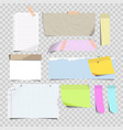 stickers and sticky memo notes corners vector image vector image