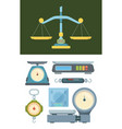store weigher set accurate electronic scales vector image vector image