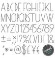 Stylish Alphabet vector image vector image