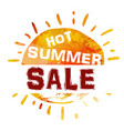 summer sale banner bright template banner vector image vector image