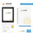 sun business logo tab app diary pvc employee card vector image vector image