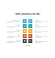 time management infographic 10 option concept vector image vector image