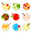 top cocktails realistic collection vector image