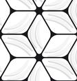 White banana shapes and black hexagon net seamless vector image vector image