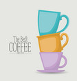 white poster of the best coffee since 1970 with vector image