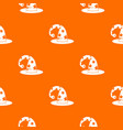 wizards hat pattern seamless vector image vector image