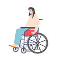 woman in a wheelchair vector image vector image