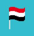 yemen pixel flag pixelated banner yemeni vector image