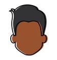 young black man head avatar character vector image vector image