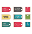 christmas holiday tags on a white background vector image