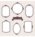 Collection of frames in retro style vector image