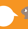 0810 Man with speech bubble vector image