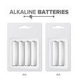 aa batteries packed alkaline battery in vector image