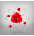 abstract molecules atoms 3d vector image