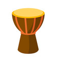 african tam tam drum cartoon vector image vector image