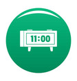 alarm clock retro icon green vector image vector image