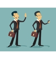 Asian China Businessman Characters Young and Old vector image vector image