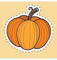 autumn pumpkin harvest thanksgiving and halloween vector image vector image