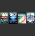 baseball poster set design for sport bar vector image vector image