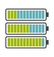 battery with different level charge icon vector image