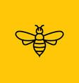 bee icon honey logo simple vector image vector image