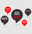 black friday sale special offer set tag 50off vector image vector image