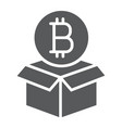 block reward glyph icon bitcoin and money vector image vector image
