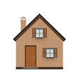 brown house icon isolated on white background vector image
