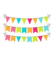 bunting for party birthday carnival and event vector image vector image