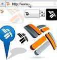 Business propeller abstract logo design vector image vector image