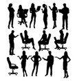 career silhouette female workers vector image vector image