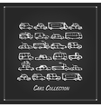 Cars collection sketch for your design vector image vector image