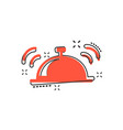 cartoon bell icon in comic style alarm bell vector image vector image