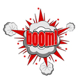 Cartoon boom vector image vector image