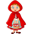 Cartoon fairy princess with robe vector image vector image