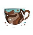 Carved paper cup brown vector image vector image