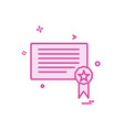 certificates icon design vector image vector image