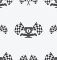 Checkered Flag or racing flags icon seamless vector image