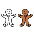 christmas cookie icon on white background vector image vector image